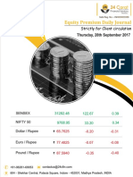 Equity Premium Daily Journal 28th September 2017 Thursday