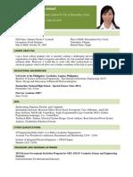 Johanna Gwenn Lomaad - Resume