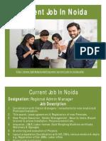 Current Job in Noida