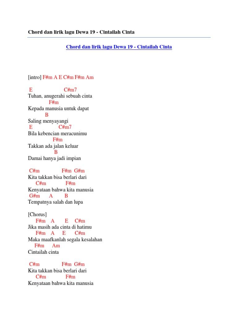 Gambar Lirik Lagu Dealova Dewa 19 Brad Erva Doce Info Ibu Sapawarga