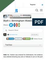 2.Blyth v. Birmingham Waterworks