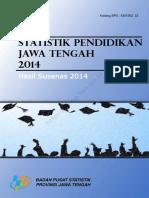 Statistik Pendidikan Jawa Tengah 2014