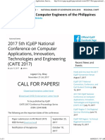 2017 5th ICpEP National Conference on Computer Applications, Innovation, Technologies and Engineering (CAITE 2017) – Institute of Computer Engineers of the Philippines
