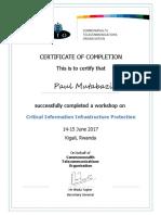 Certificate Rwanda CIIP