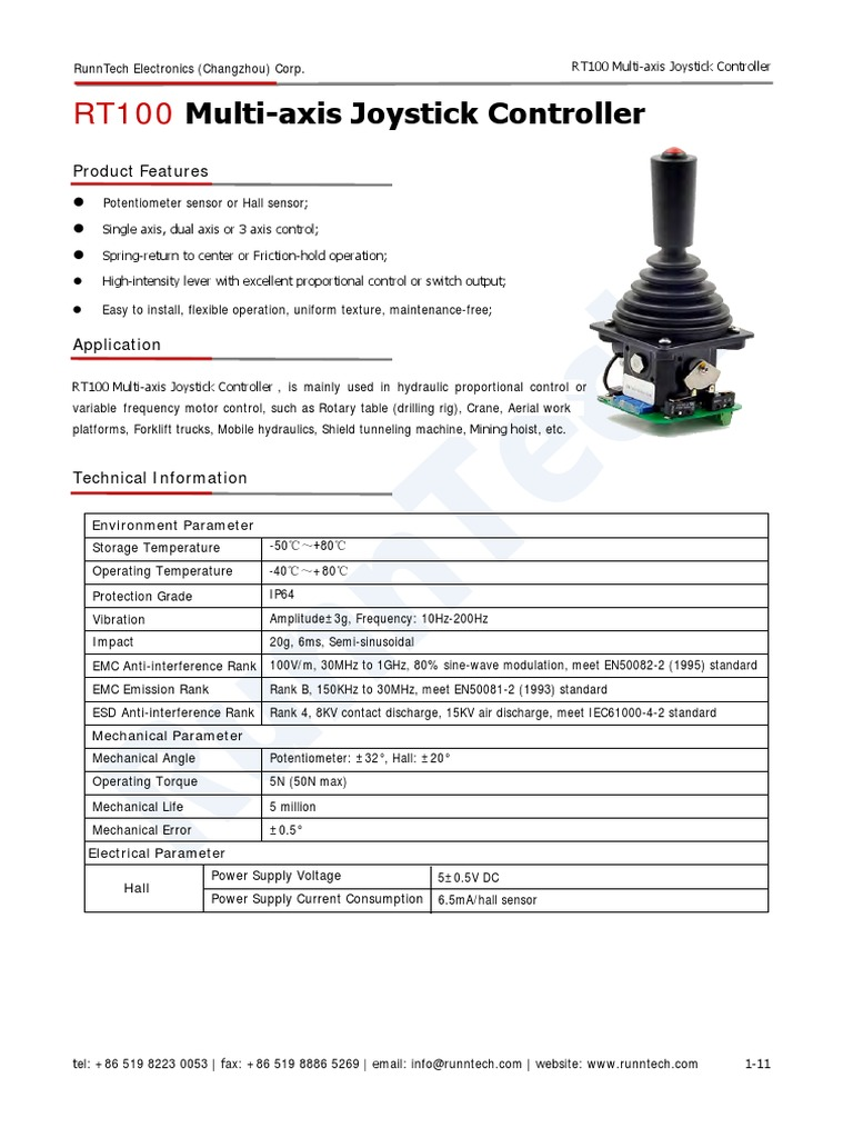 RT-100 Industrial Joystick | Power Supply | Machines