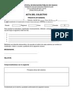 Acta Colectivo Formato Blanco
