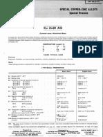 Brass Carbon Alloy Datasheet CZ110 (CW702R)