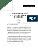 La Formación Del Istmo de Panamá-Su Incidencia en Colombia