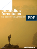 Incendios forestales Greenpeace