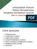 Permasalahan Hukum Dalam Penyelesaian Sengketa Perbankan Syariah