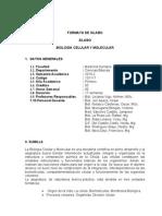 Sílabo de Biología Celular y Molecular 2010 - Filial Norte