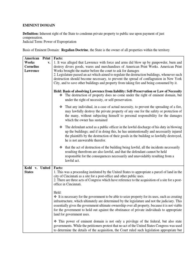 eminent domain term paper