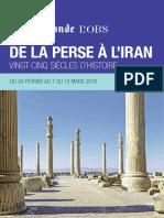 De la Perse à l'Iran, vingt-cinq siècles d'Histoire