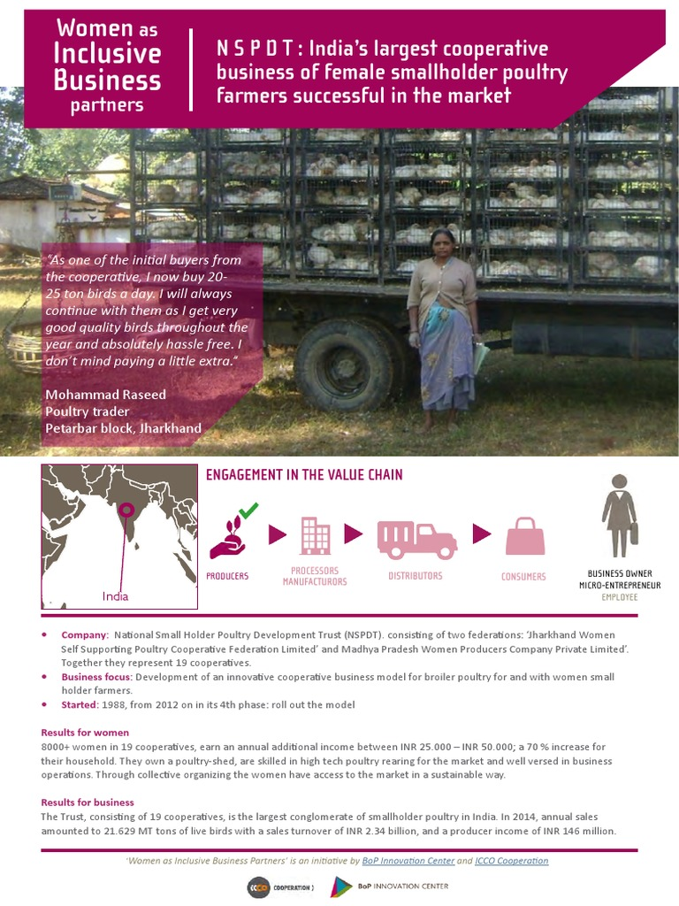 Women as Ib Partners - Pradan | Cooperative | Poultry