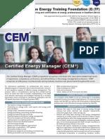 EnTF CEM Course E-Brochure