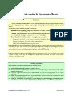 Determinant of poverty ad  inequality