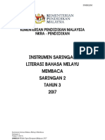 Instrumen Literasi Membaca Saringan 2 Tahun 3 2017