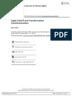 Legal Culture and Transformative Constitutionalism