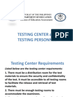 Testing Personnel
