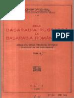 Onisifor Ghibu_Dela Basarabia Ruseasca La Basarabia Romaneasca