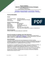 UT Dallas Syllabus for entp6385.0g1.10f taught by Daniel Bochsler (dcb091000)