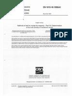 EN 1015-10:1999/A1:2006 Determination of dry bulk density of hardened mortar