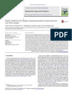 Artigo - Kinetic Model for the Catalytic Disproportionation of Pine Oleoresinover PdC Catalyst