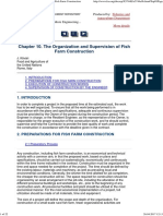 Organization and Supervision of Fish Farm Construction