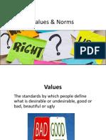 vocab ii - norms values