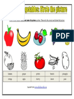 Fruits and Vegetables Circle the Picture Worksheet