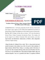 President Glover Retirement_$8.5Million_ Announcements
