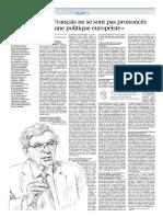 Chevenement Les Français Ne Se Sont Pas Prononcés Pour Une Politique Européist - Le Figaro Du Vendredi 29 Septembre 2017