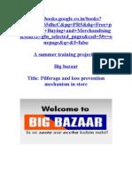 Project on Big bazaar on shrinkage & CSD