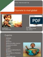 Saracia Si Foametea La Nivel Global