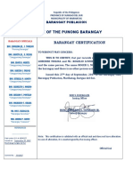 Barangay Certificate of Indigency