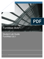 Student Guide FortiWeb 5.8.1