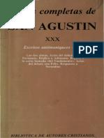 AGUSTÍN DE HIPONA - Obras completas, XXX. Escritos antimaniqueos (1.º) (BAC, Madrid, 1986).pdf