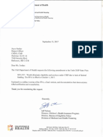 Utah Department of Health letter to the Department of Health & Human Services