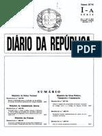 Sumario de Diario Da Republica 247 94 Serie i a de Terca Feira 25 de Outubro de 1994