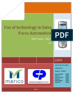 Technology in Sales Force Automation- Part C