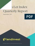 LendInvest BTL Index September Report 2017