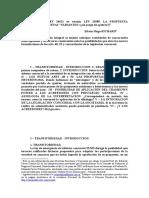 ARTS. 48 y 52 LEY 24522 en versión LEY 25589. LA PROPUESTA HETERÓNOMA y NUEVAS VARIANTES.doc