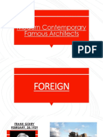 Comprehensive Famous Architects