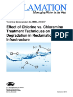 Effect of Chlorine vs Chloramine Treatment Techniques on Materials Degradation in Reclamation Infrastructure