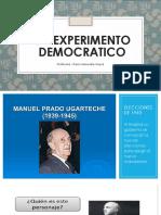 Un Experimento Democratico