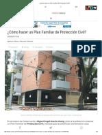 ¿Cómo Hacer Un Plan Familiar de Protección Civil