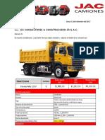 Volquete Jac- 6x4 - 15 m3 - 430 Hp Jjc Consult.