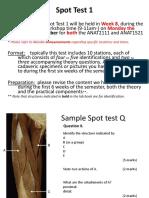 Spot Test 1-Sem 2 Info