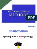 Methods Graphics Slides Java Aplus
