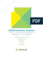 Anechoic Chamber S11 Manual